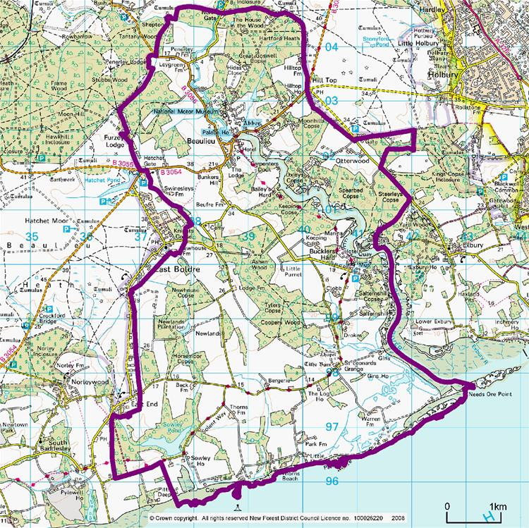 Beaulieu Boundary Map